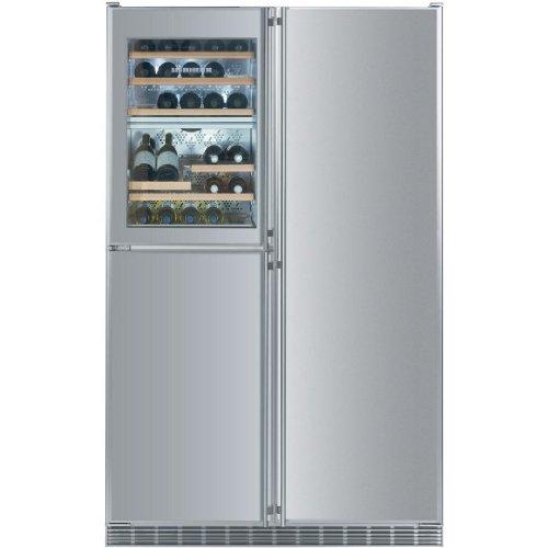 Liebherr Sbs-246 21.8 Cu. Ft. Capacity 5 Zone Built-in Side-by-side Refrigerator / Freezer - Stainless Steel