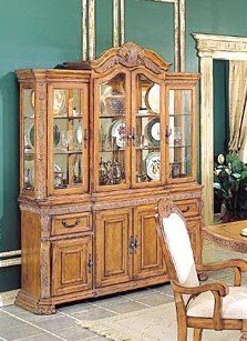 Cheap Caspian Collection Hardwood China Cabinet /Buffet Hutch (VF_HE904-50)
