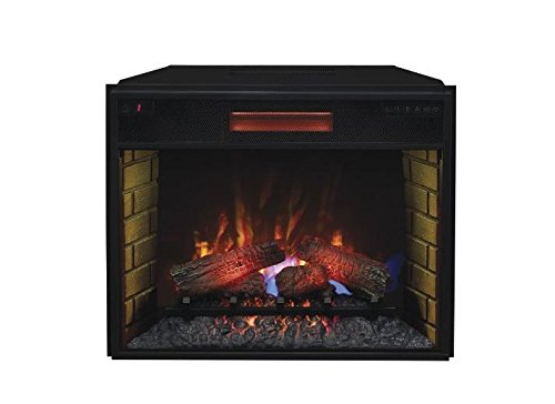 "Complete Set Lakeland Media Mantel With 28"" Infrared Spectrafire Plus Insert With Safer Plug"