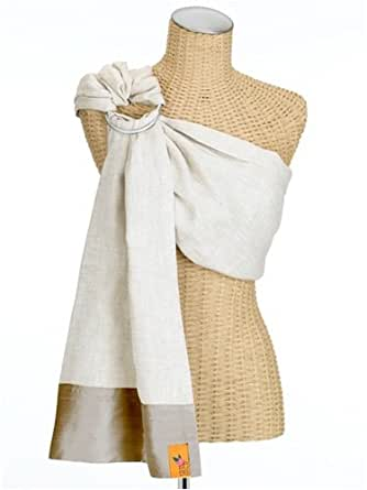 Sakura Bloom Linen Baby Sling - Hana Collection, Natural/Ginger