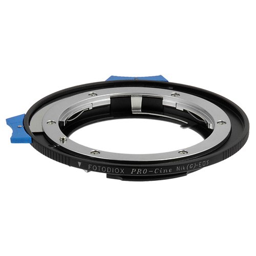 Fotodiox Pro Lens Mount Adapter with Dandelion AF Focus Confirmation Chip, Nikon (includes G-type) Lens to Canon EOS Camera, for Canon EOS 1D, 1DS, Mark II, III, IV, 1DX, 1DC, 5D, 5D Mark II, III 7D, 50D, 60D, 60D, Digital Rebel T3i, T4i, T5i, SL1, and C300, C500