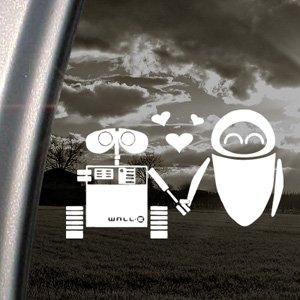 DISNEY Decal WALL E EVE ROBOT LOVE Window Sticker