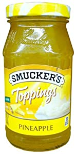 Smucker's PINEAPPLE TOPPINGS 12oz (3 Pack)