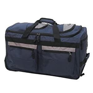 """Olympia Luggage 22"""" 8 Pocket Rolling Duffel Bag from Olympia"""