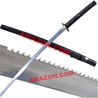 Amazon.com : Shikoro Ken (Saw Sword) Samurai Katana Sword