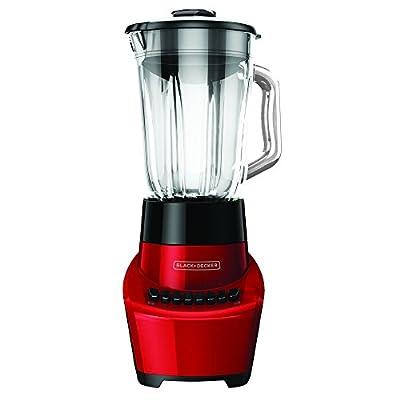 BLACK+DECKER BL1110RG FusionBlade Blender with 6-Cup Glass Jar, 12-Speed Settings, Red Blender