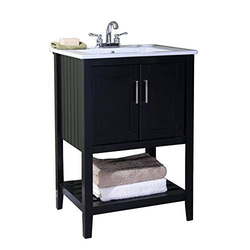 Legion Furniture Wlf6020 E 24 In Sink Vanity Without Faucet Espresso New Ebay
