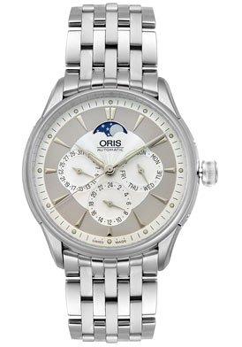Oris Men's 581 7592 4051MB Artelier Complication Automatic Stainless Steel Watch
