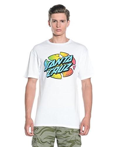 Santa Cruz T-Shirt Manica Corta Broken Dot Fade S/S [Bianco]
