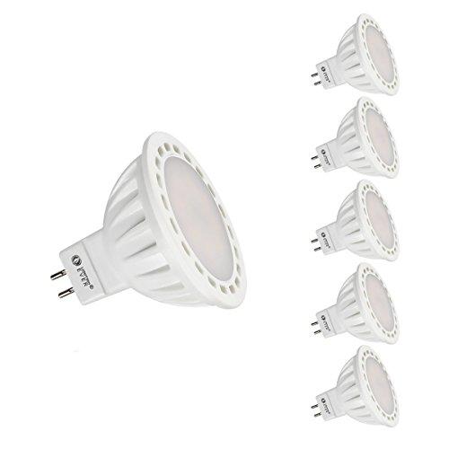 Le 4W Mr16 Gu5.3 Led Bulb, Equal To 40W Halogen Bulb, 12 Vac/Dc, Flood Beam Angle, Daylight White, Pack Of 5 Units