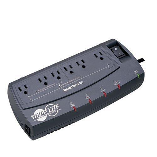 Tripp Lite INTERNETOFFICE300 300VA 150W UPS Desktop Battery Back Up Compact 120V RJ45 6 OutletsB000065DK8