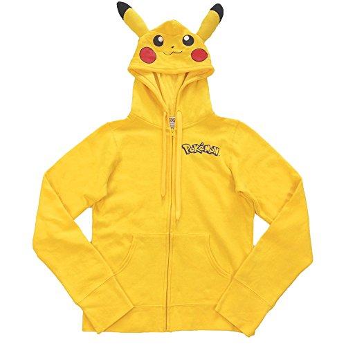 Pokemon I Am Pikachu Juniors Hoodie Sweatshirt (Large)