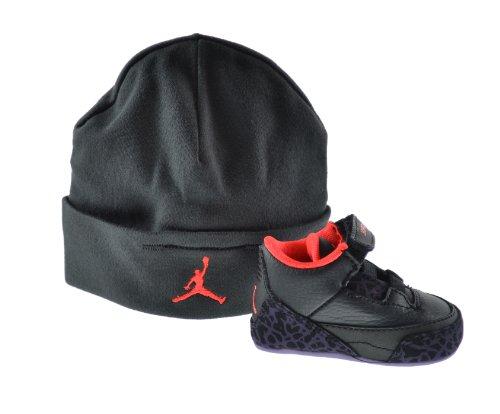 Jordan 3 Retro (GP) Infants Gift Pack Black/Bright Crimson/Canyon Purple 574416-005 (3 M US)