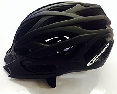 AMMACO SINGLE MOULD BOYS/MENS CYCLE HELMET 54-58cm BLACK RUBBER by AMMACO