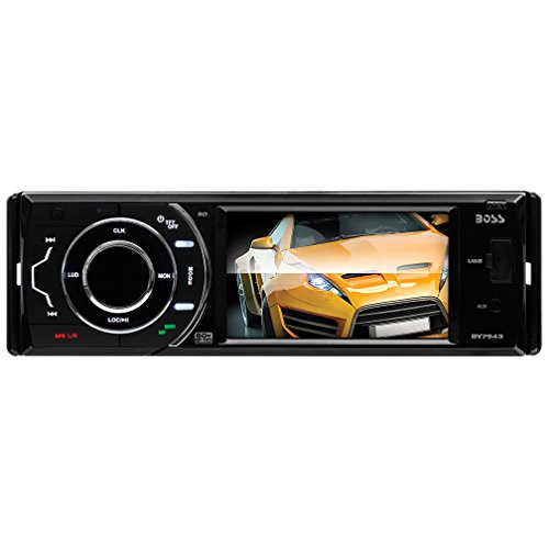 BOSS AUDIO BV7943 Single-DIN 3.6 inch Touchscreen DVD Player Receiver, Detachable Front Panel, Wireless Remote (Car Audio Dvd compare prices)