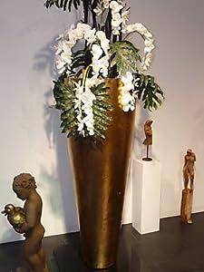 Design-Gefäß aus hochgebrannter Keramik mit Echtgoldauflage