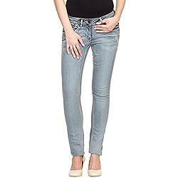 Species Women's Slim Fit Jeans (S-452_Light Blue_Large)