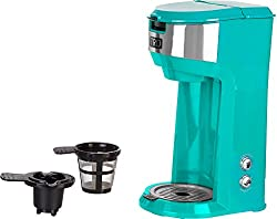 TRU Turquoise Dual Brew Coffee Maker One Size made by TRU