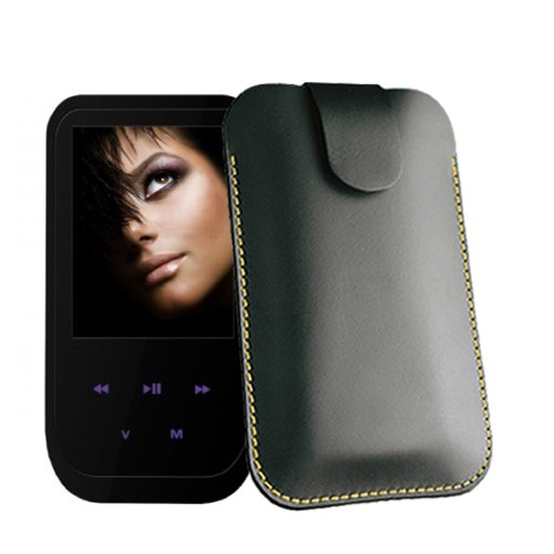 Etui für Odys Sono Musik Player Hülle Tasche Case Ledertasche für MP3-MP4-Audio-Media-Player