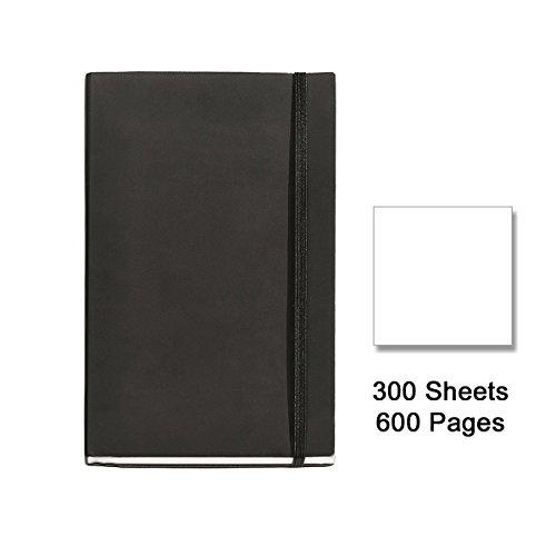 quatriemement-rm-flexible-10417-cuir-carnet-8-300-feuilles-lisses-en-caoutchouc-noir
