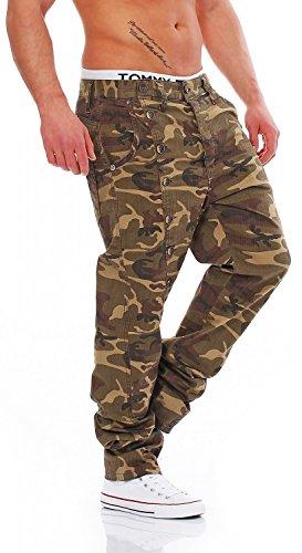 CIPO & BAXX - C-1080 Camouflage - Regular Fit - Uomo / Uomo Jeans pantaloni, taglia pantalone: W34 / L32