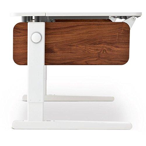 Moll Champion Style Left Up Schreibtisch | Nussbaumdekor | 120 x 72 x 53-82 cm (Breite x Tiefe x Höhe) | höhenverstellbar online bestellen