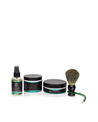 eShave Solution 4-Piece Set in Cucumber Scent, Black As You See
