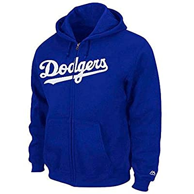 Majestic Los Angeles Dodgers Full Zip Hooded Fleece Kids & Youth Sweater - Royal Blue