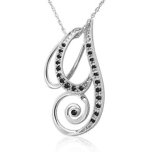 Alphabet W Diamond Initial Pendant in 14k White Gold