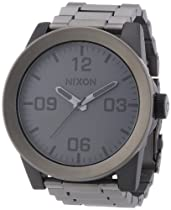 Nixon Corporal SS Matte Black IP Stainless Steel Mens Watch A3461062