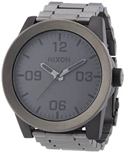 Nixon Herren-Armbanduhr XL The Corporal Ss Analog Quarz Edelstahl beschichtet A3461062-00