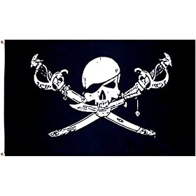 """Pirate """"Bretheren of Coast"""" Flag - 3 foot by 5 foot Polyester (NEW)"""