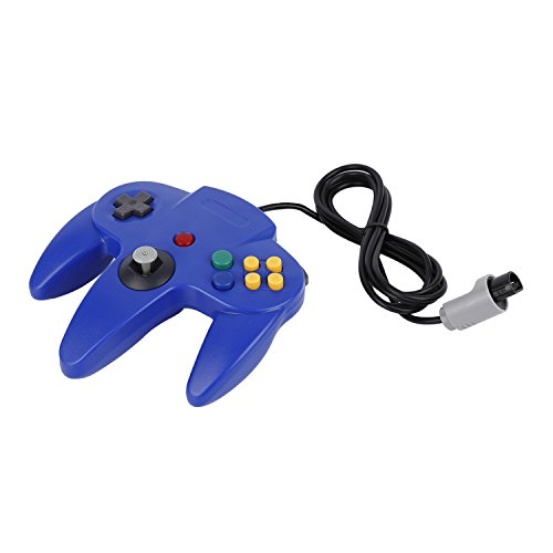 YKS Game Controller Joystick for Nintendo 64 N64 System Deep Blue Pad Mario Kart (Nintendo 64 Console Pokemon compare prices)