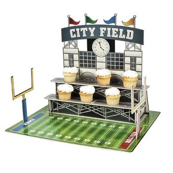 Large Football Stadium Cupcake Holder - Party Tableware & Serveware