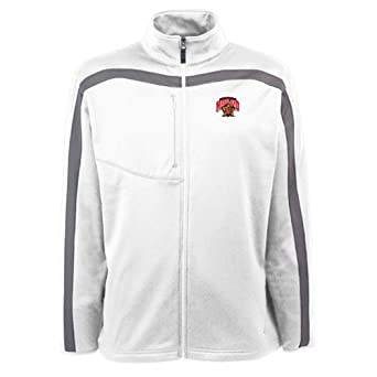Maryland Terrapins Jacket - NCAA Antigua Mens Viper Performance Jacket White by Antigua