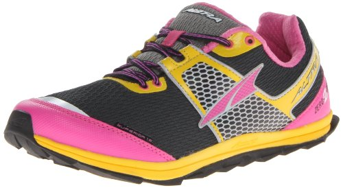 Altra Women's Superior 1.5 Running Shoe,Black/Yellow Chrome/Pink,9 M US