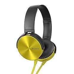 Sony MDR-XB450 On-Ear Extraa Bass Headphone  (yellow)