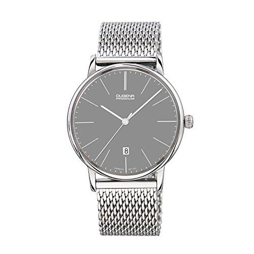 Dugena 7090230 - Reloj unisex, correa de acero inoxidable color plateado