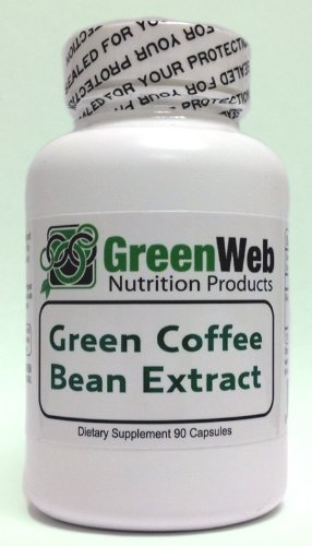 Green Web brand Green Coffee Bean Extract, 90 capsules, 500mg, Pure Green Coffee Extract