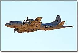 Navy P-3 / P3-C Orion Aircraft on Patrol 8x12 Silver Halide Photo Print