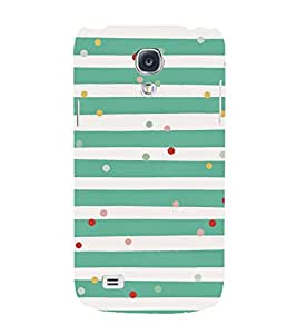 GREEN AND WHITE STRIPPED VINTAGE PATTERN 3D Hard Polycarbonate Designer Back Case Cover for Samsung Galaxy S4 :: Samsung Galaxy S4 i9500
