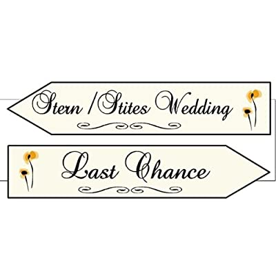 Set of 2 Wedding Signs Marriage Path Last Chance Path Hand painted wood
