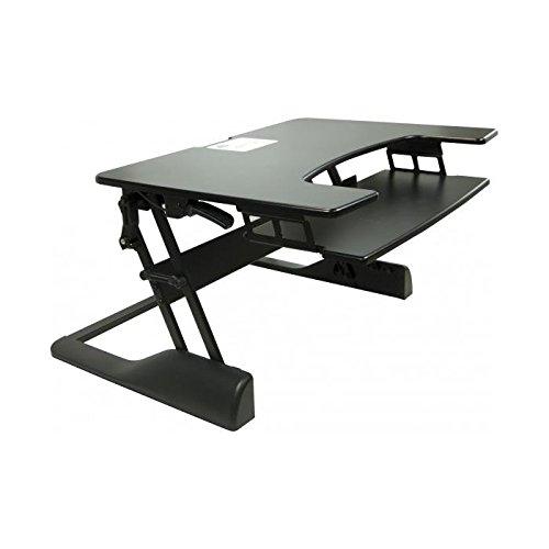 Meuble ordinateur - Poste de travail assis/debout - Poste de travail avec hauteur réglable