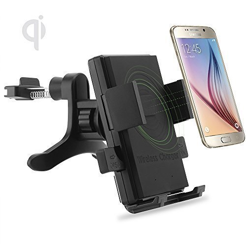 ONX3 (Air Vent Qi Wireless Charger) Asus Zenfone 5 Lite A502CG Universal Fast Charge QI Wireless Car Charger Station Mount Holder for Air Vent (One Direction Samsung Galaxy Lite compare prices)