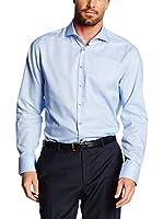 Jacques Britt Camisa Hombre Kai Satinribbon (Azul Medio)
