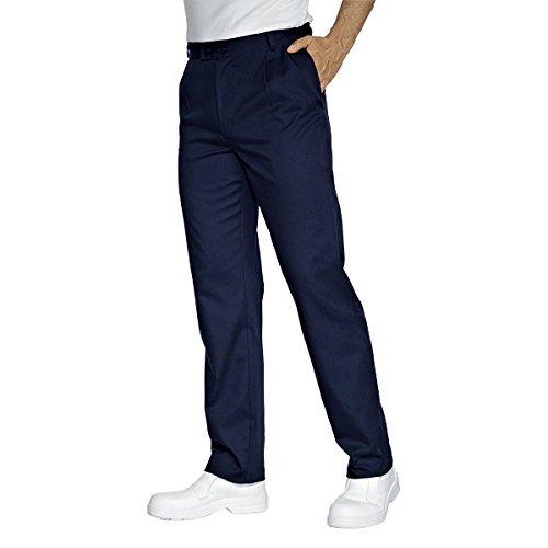Isacco Pantalone Lavoro Blu, Blu, L, 65% Poliestere 35% Cotone