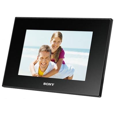 Sony DPF-D75 7-Inch LED Backlit Digital Photo Frame with Remote Control (Black)