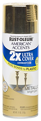 Rust Oleum 280724 American Accents Ultra Cover 2X Spray Paint, Metallic Gold, 11-Ounce (Gold Spray Paint compare prices)