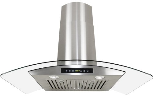 """Golden Vantage Stainless Steel 30"""" Euro Style Wall Mount Range Hood Led Touch Screen W/Baffle Filter Gv-H703C-B30"""