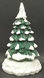 Department 56 Village Lighted Snow Capped Revolving Tree 52603